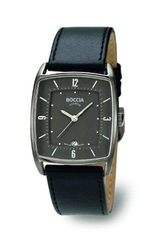 Boccia Analog Leder schwarz B3532 04