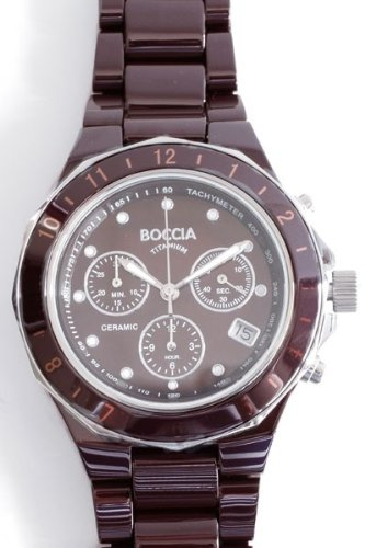 Boccia XL Ceramic Chronograph Quarz Keramik 3765 03