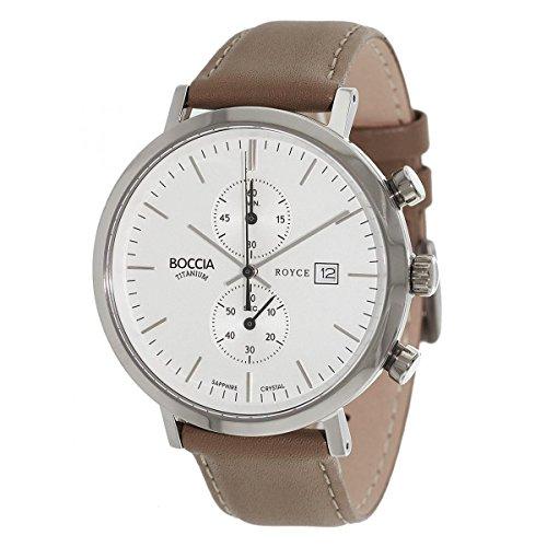 Boccia Chronograph Quarz Leder 3752 01