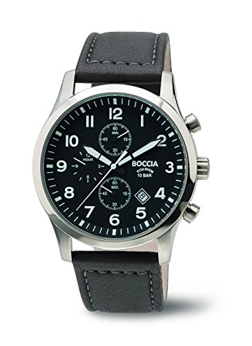 Boccia Chronograph Quarz Leder 3755 01