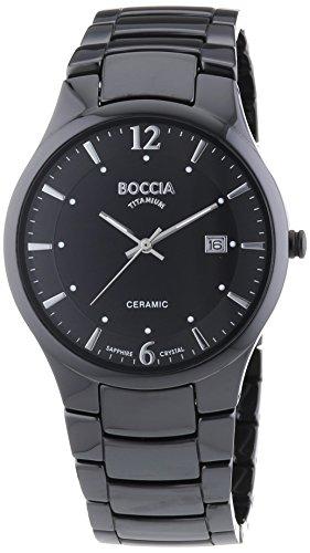 Boccia Analog Quarz mit Keramikarmband 3572 02