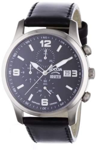 Boccia Herren-Armbanduhr Mit Lederarmband Sport 3776-01