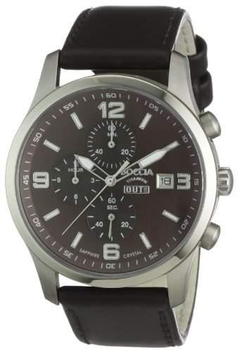Boccia Herren-Armbanduhr Mit Lederarmband Sport 3776-03