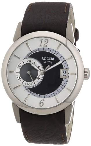Boccia Herren-Armbanduhr Mit Lederarmband Trend 3543-02