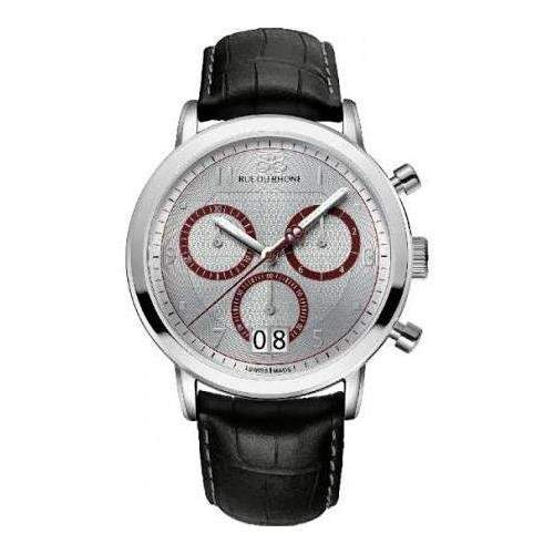 88 Rue Du Rhone Mens Black Leather Chronograph Date Watch 87WA130026