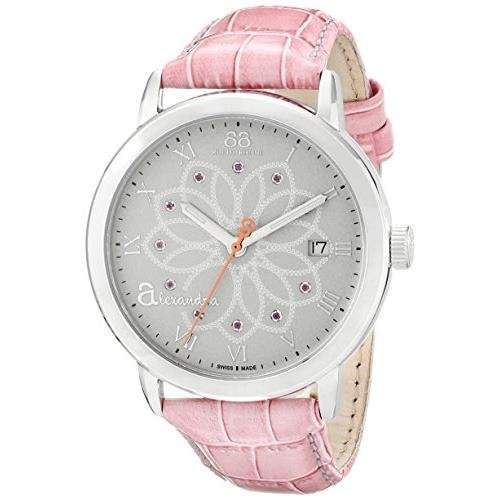 88 Rue Du Rhone Double 8 Origin Ladies Pink Leather Date Watch 87WA140019