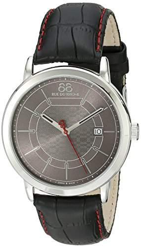 88 Rue Du Rhone Double 8 Origin Mens Black Leather Date Watch 87WA140026