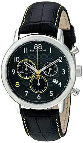 88 Rue Du Rhone Double 8 Origin Mens Leather Chronograph Date Watch 87WA140028