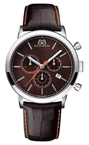 88 Rue Du Rhone Double 8 Origin Mens Leather Chronograph Date Watch 87WA140029
