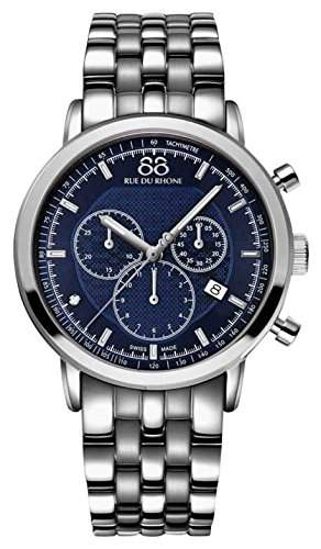 88 Rue Du Rhone Double & Origin Mens Silver Stainless Steel Watch 87WA154205