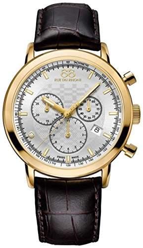 88 Rue Du Rhone Double & Origin Mens Brown Leather Chronograph Watch 87WA154206