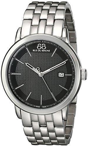 88 Rue Du Rhone Herren 87 wa130011 Double 8 Origin Analog Display Swiss Quartz Silber Uhr