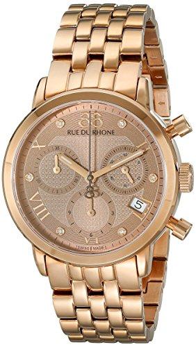 88 Rue Du Rhone 87wa130033 35mm Doppel 8 Herkunft Damen Stieg Gold Braun Uhr