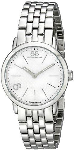 88 Rue Du Rhone 87wa140021 29mm Doppel 8 Herkunft Damen Silber Pvd Edelstahl Uhr