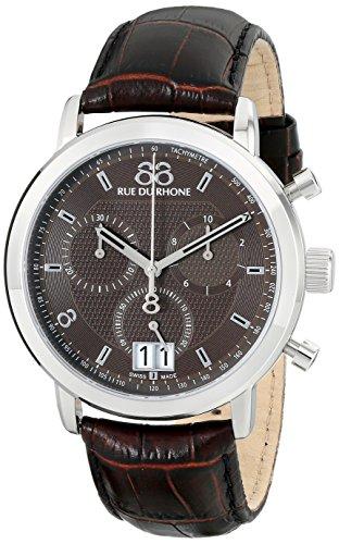 88 Rue Du Rhone Mens Brown Leather Chronograph Date Watch 87WA130022