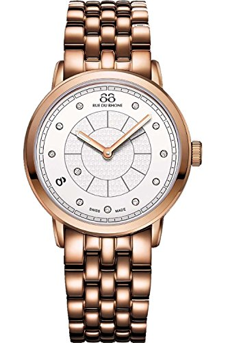 88 Rue Du Rhone Ladies Rose Gold PVD Diamond Set Watch 87WA120009