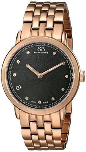 88 Rue Du Rhone Ladies Rose Gold PVD Diamond Set Watch 87WA120017