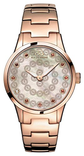 88 Rue Du Rhone Rive Ladies Rose Gold Ion plated Diamond Set Watch 87WA153202