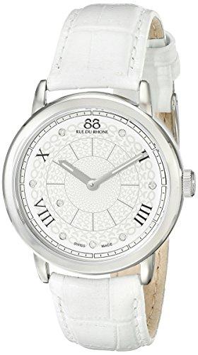 88 Rue Du Rhone Ladies White Leather Diamond Set Watch 87WA120008