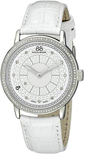 88 Rue Du Rhone Ladies White Leather Diamond Set Watch 87WA120018