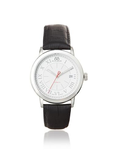 88 Rue Du Rhone Mens Black Leather Date Watch 87WA120033