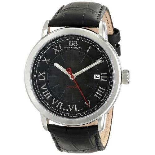 88 Rue Du Rhone Mens Black Leather Date Watch 87WA120043