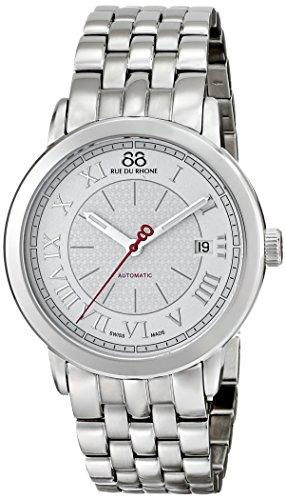 88 Rue Du Rhone Mens Silver Stainless Steel Date Watch 87WA120031
