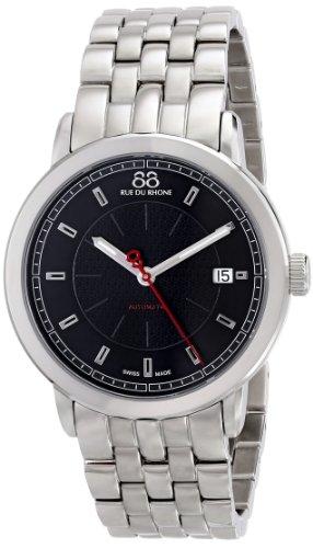88 Rue Du Rhone Mens Silver Stainless Steel Date Watch 87WA120032