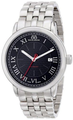 88 Rue Du Rhone Mens Silver Stainless Steel Date Watch 87WA120040