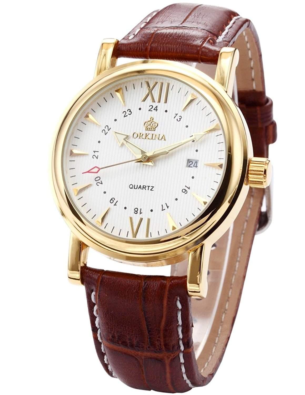 ORKINA Elegant Armbanduhr Herrenuhr Quarzuhr Uhr ORK046