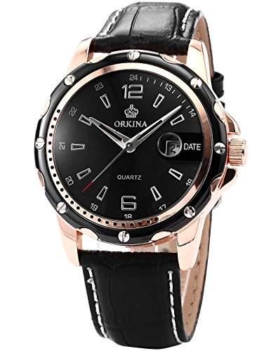 ORKINA Elegant Armbanduhr Herrenuhr Quarzuhr Uhr ORK050