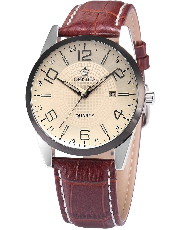 ORKINA Elegant Armbanduhr Herrenuhr Quarzuhr Uhr ORK055