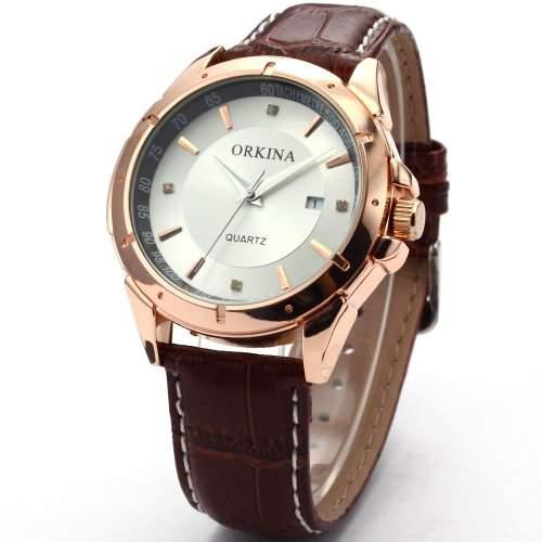 ORKINA Elegant Armbanduhr Herrenuhr Quarzuhr Uhr ORK082