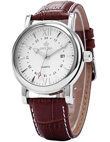 ORKINA Elegant Armbanduhr Herrenuhr Quarzuhr Uhr ORK107