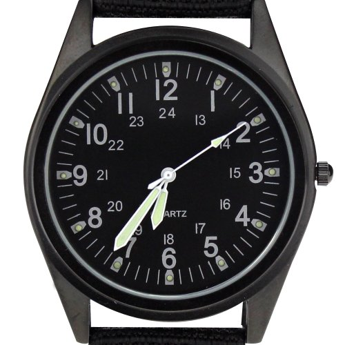 Orkina Armbanduhr Nylon P104IP BB Schwarz