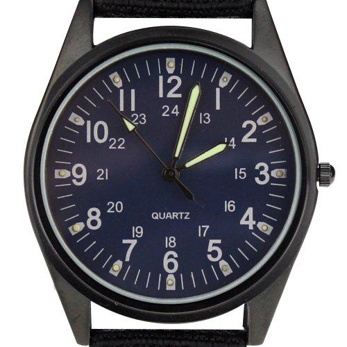 Orkina Armbanduhr Nylon Quarzuhrwerk P104IP BLU