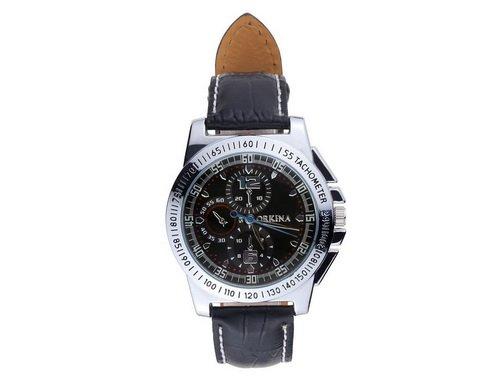 ORKINA Classic Retro Casual Leder Guertel maennlich Tabelle Zeiger Fake Uhren six pin