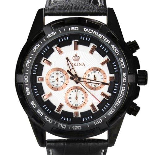 Orkina Chronograph Leder PO015 LBW schwarzes Gehaeuse