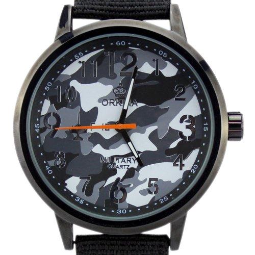 ORKINA Herren Armbanduhr W006 Black Camouflage