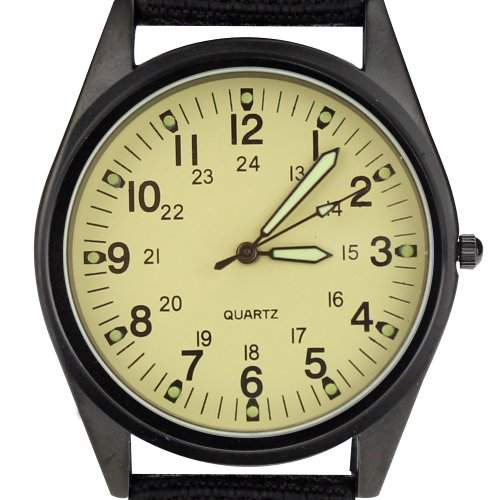 Orkina Armbanduhr Nylon P104IPBLW schwarzes Gehäuse