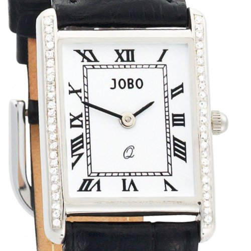 925 S silber Zirkonia Lederband schwarz Mineralglas