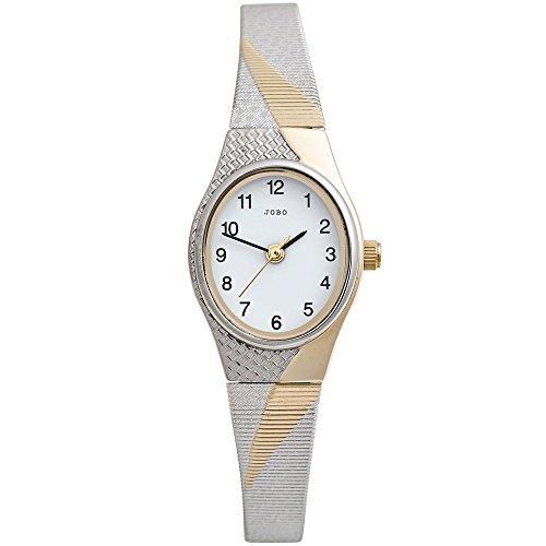 JOBO j041966 Armbanduhr Damen Armband in Edelstahl