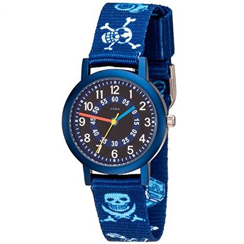 JOBO Pirat blau Quarz Aluminium Kinderuhr