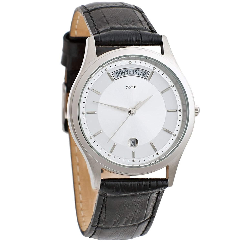 Herrenuhr - Armbanduhr - Quarz-Analog - Gehaeuse und Boden Edelstahl