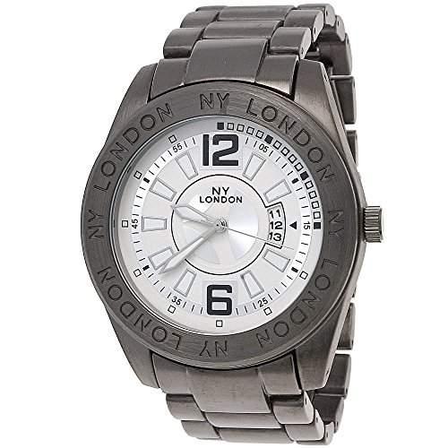 Designer Herrenuhr,Herren Armband Uhr mit Datum,SchwarzAnthrazit,Weiss G41