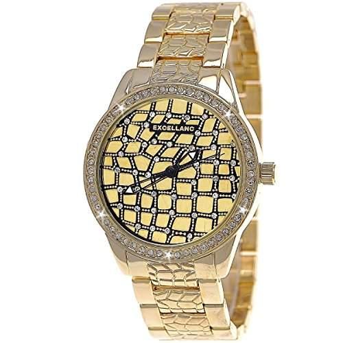 Designer Strass Damenuhr,Moderne Damen Armband Uhr,Gold D270