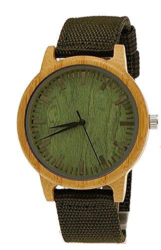 Henny Klein designer Damen Herren OEko Natur Holz Armbanduhr in Gruen Uhr limitierte edition inkl Uhrenbox