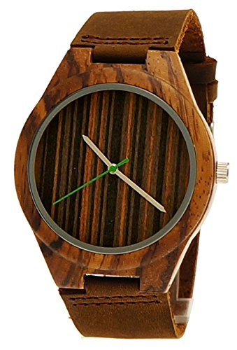 Henny Klein designer Damen Herren OEko Natur Holz Rinder Leder Armbanduhr Uhr in Braun limitierte edition inkl Uhrenbox
