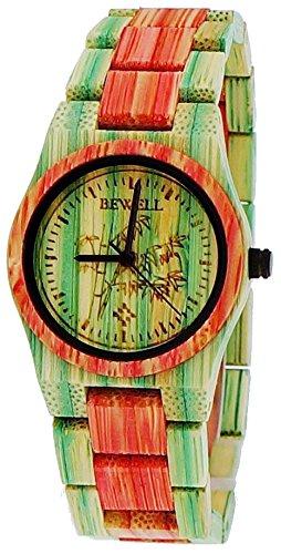 Kleine Pure Time designer Damen Holz Uhr Armbanduhr in bunt limitierte Summer Edition inkl Uhrenbox