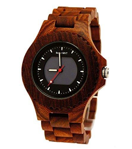 29 Pure Time SOLAR designer Unisex Damen Herren Holz Armbanduhr in Kirschholz Braun Uhr inkl Holz Uhrenbox